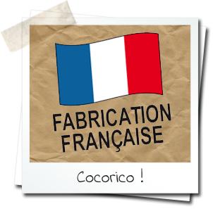 "dessin de drapeau français mention ""fabrication française"""