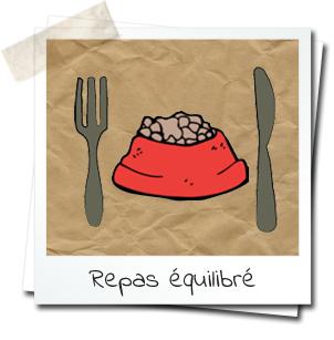 dessin d'une gamelle, fourchette et couteau